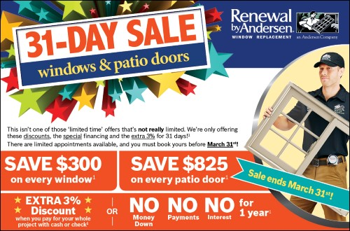 31 Day Sale at Renewal by Andersen