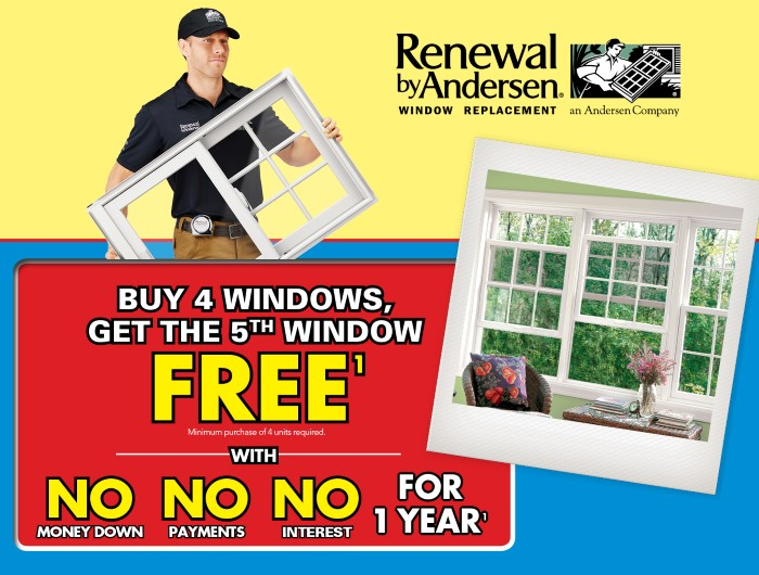 Buy 4 windows, get the 5th one FREE!