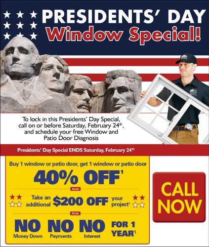 40% Off Windows and Doors at the Presidents Sale at Renewal by Andersen