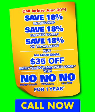 Save 18% on Windows, Doors, and professional installation at Renewal by Andersen