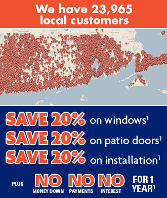 Save 20% on windows, patio doors AND installation!